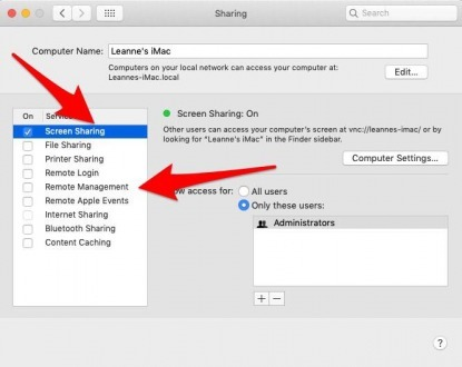 facetime screen share permission